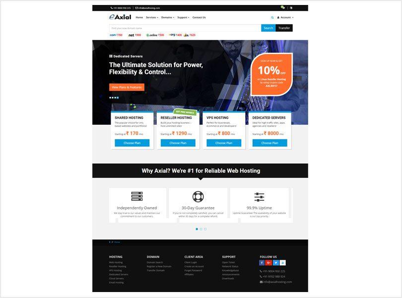 Axial WebHosting